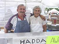 Tony and Loreece Haddad served gyros at the 2002 Taste of Peoria.