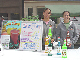 Java Jolt Coffee served fruit smoothies and mocha smoothies. To get your smoothie, drive through Java Jolt's drive-thru window at 8111 N. Knoxville in Peoria.