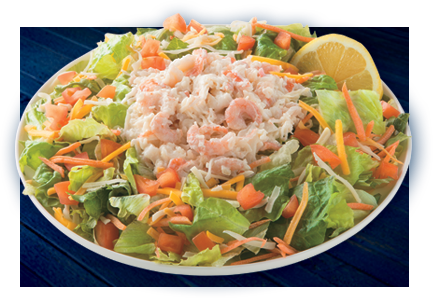 It's on the menu at Long John Silver's -- creamy broccoli cheese soup, New England Clam chowder, and classic chicken and cranberry salad, and seafood salad. 