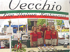 The Ponte Vecchio team, all dressed in red and khaki, served a very tempting tiramisu. Ponte Vecchio is located at Sheridan Village in Peoria.