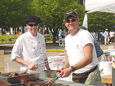 Weaver Ridge executive chef Jeff Selvig and a BBQ buddy managed the grill just fine!