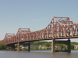 The Murray Baker bridge in Peoria, Illinois